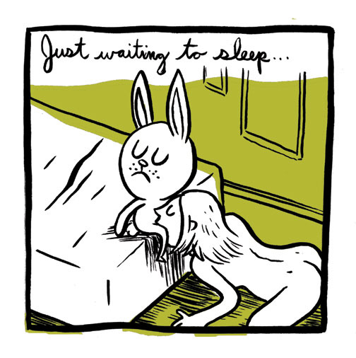 Show us a sketch of your sexiest cartoon bunny: