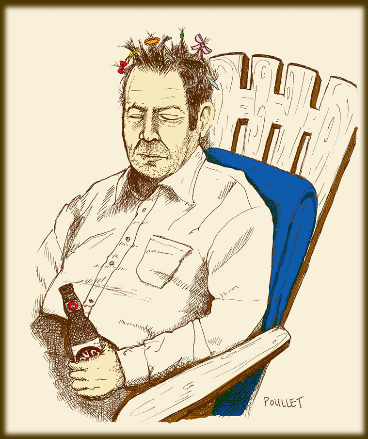 Dad with Barrettes